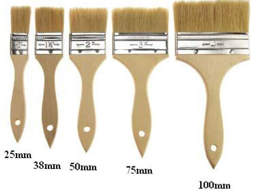 "Pack of 12 Disposable Fibreglass Brush 2.5"" (63mm)"