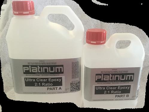 2:1 Epoxy Ultra/Super Clear Resin - 3Lt kit