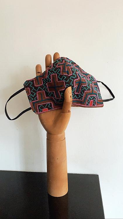 Peruvian Shipibo Embroidery Mask
