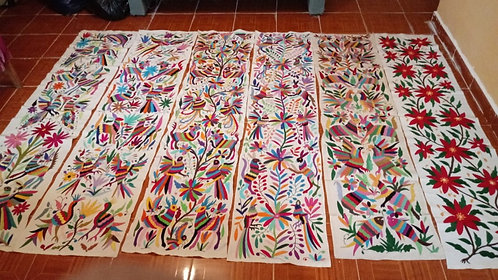 Hand Embroidered Otomi Runner