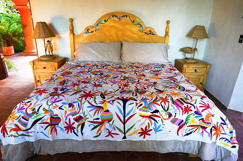 Otomi Embroidery Multicolor Textile