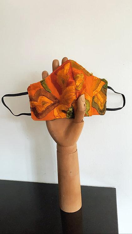 Bolivian Silk Flower Mask