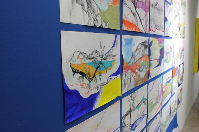 Equadrant drawing installation 2021