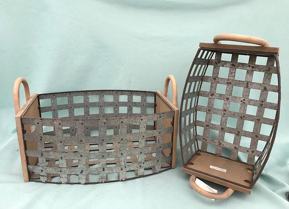 Metal & Wood Basket
