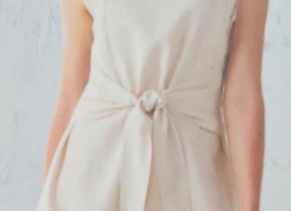 Charlie Paige Linen Tie Dress
