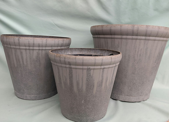 Mica Decorative Rim Plastic Plant Pot
