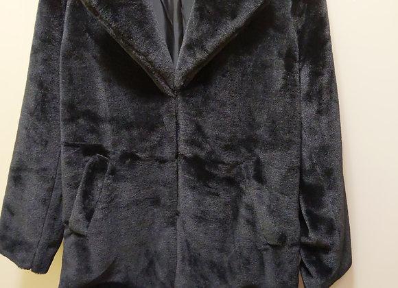 Faux Black Fur Jacket
