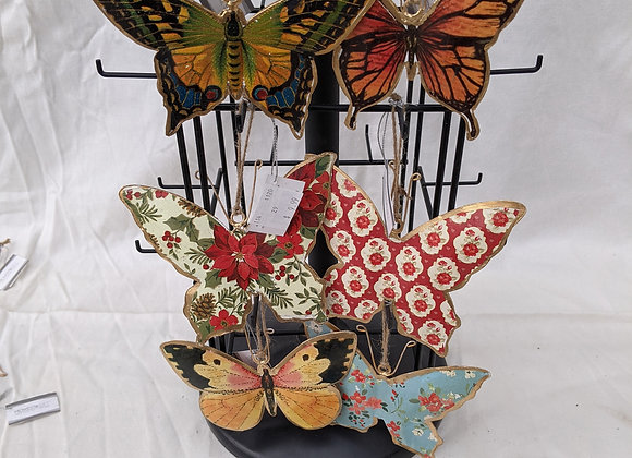 """Assorted 5-6"""" Hanging Butterfly"""