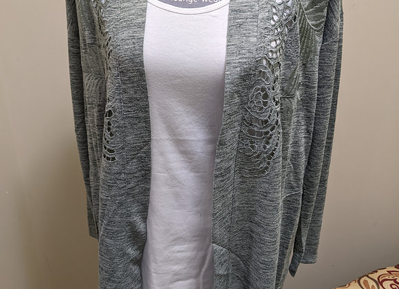 Long Sleeve Embroidered Cardigan