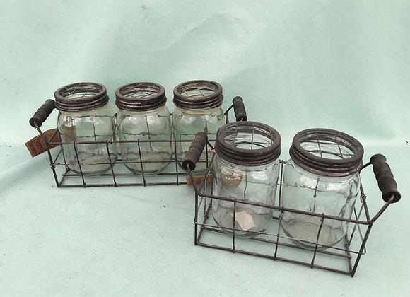 Plant Cutting Mason Jar Display