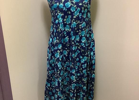 Papa Blue Floral Dress