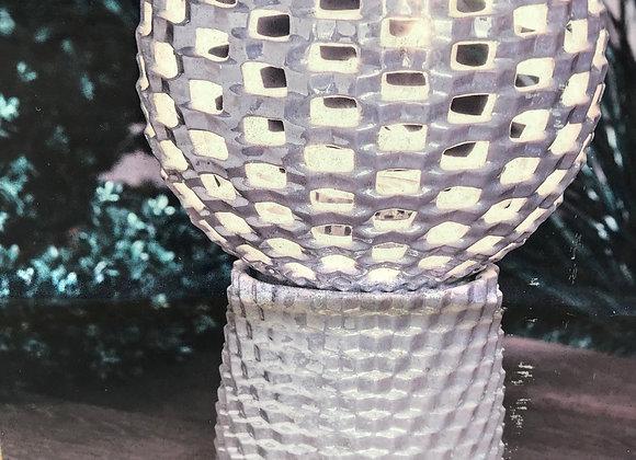 Light Up Ceramic Orb with Pedestal
