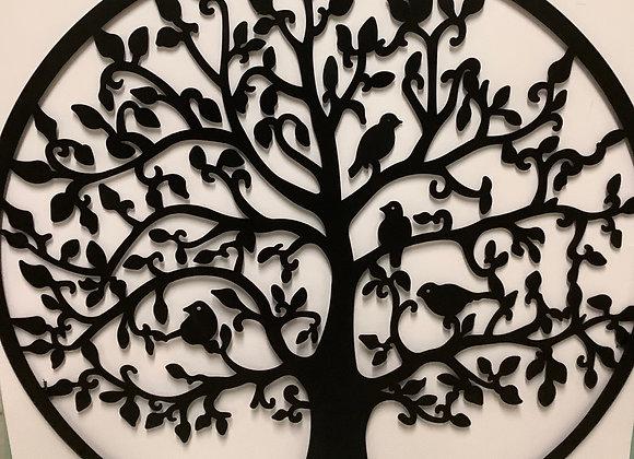Large Metal Tree w. Birds Wall Art