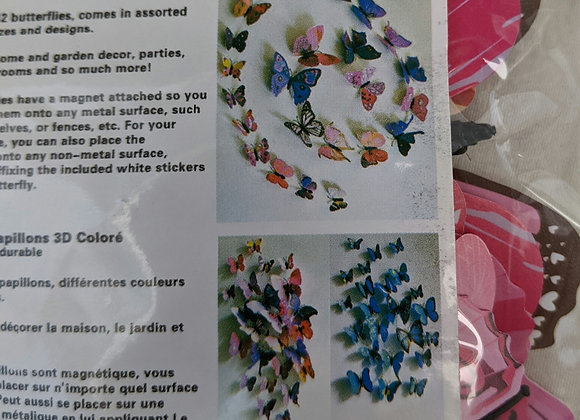 Colourful 3D Butterfly Magnets
