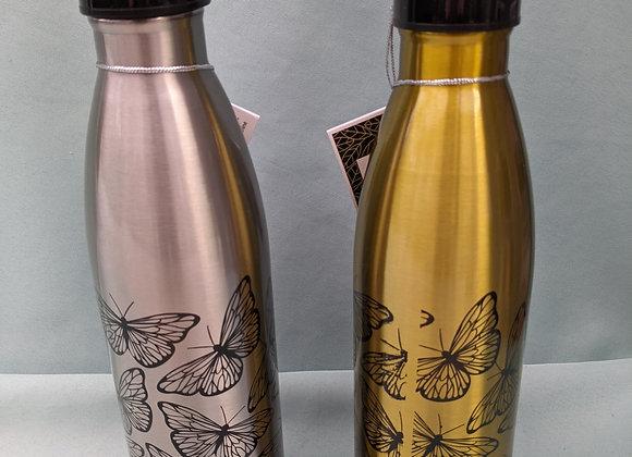 17oz. Stainless Steel Butterfly Sport Bottle