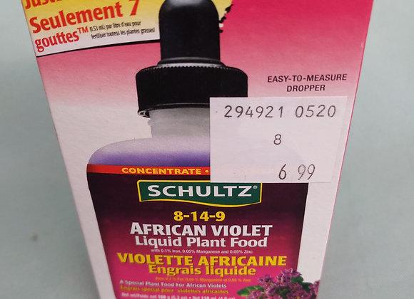 Schultz African Violet Liquid Plant Food 8-14-9