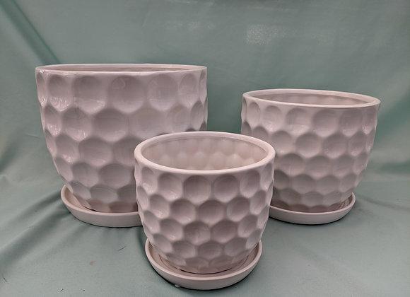 Bubble Plant Pot with Saucer