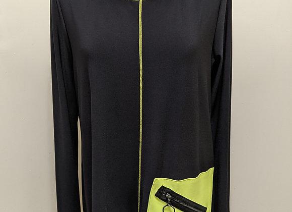 Joseph Ribkoff Asymmetric Pocket Detail Long Sleeve Top
