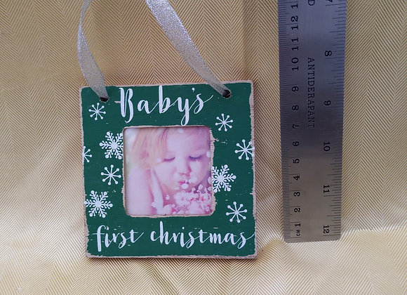 Baby's First Christmas Picture Ornament
