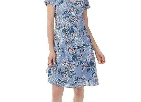 Charlie B Cape Sleeve Printed Dress