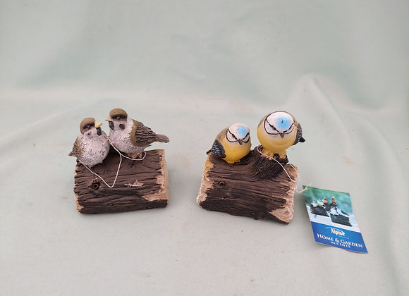 Motion Activated Chirping Birds On Log