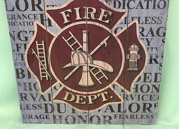 Fire Dept Sign