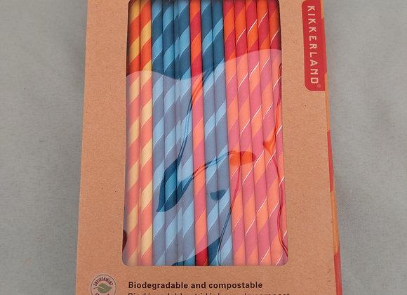 Party Stripes Paper Straws