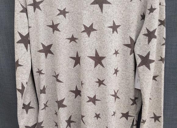 Tribal Star Low High Sweater