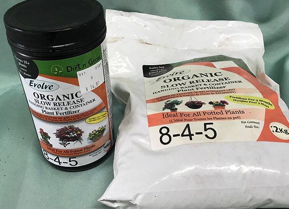 Evolve organic Slow Release Hanging Basket & Container Fertilizer 8-4-5