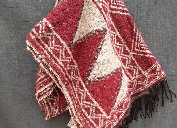 Blanket Scarf - Burgundy