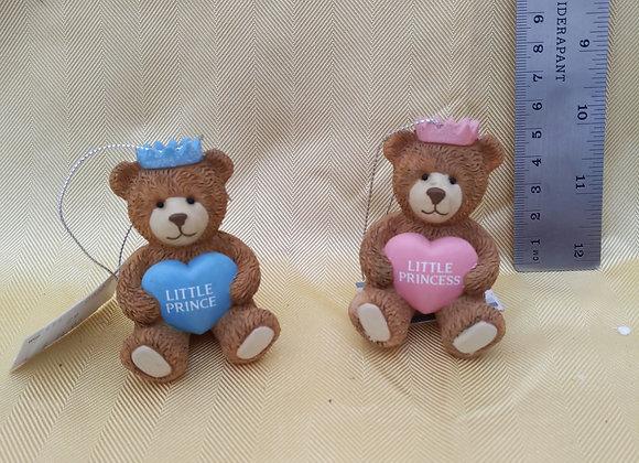 Little Prince/Princess Bear Ornament