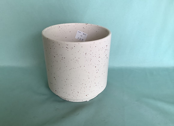 "6"" Round Speckled Rice Pot"
