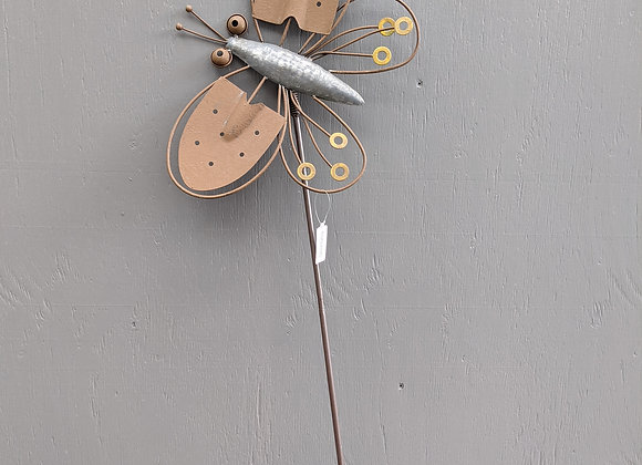 Metal Butterfly Stake