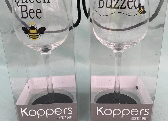 Bee Wine Glass