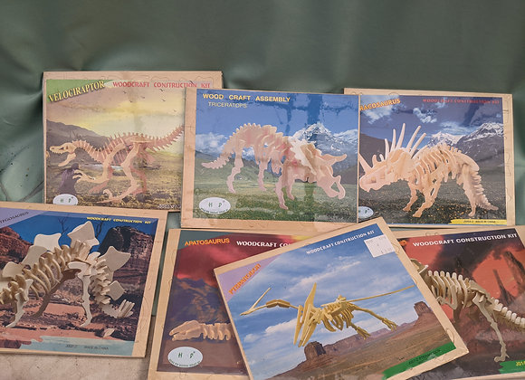 Assorted Dinosaur Woodcraft Construction Kit