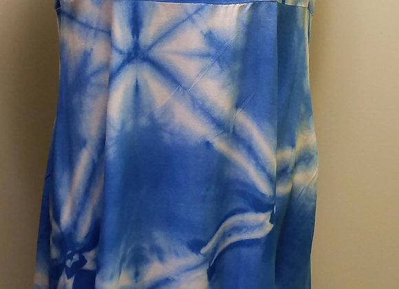 Tribal Vista Blue Maxi Dress