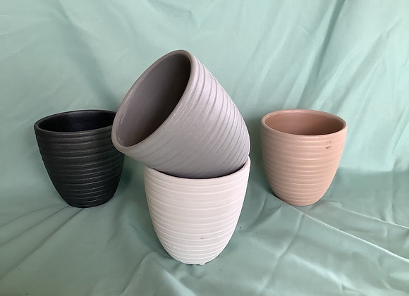 "5"" Ribbed Plant Pot"