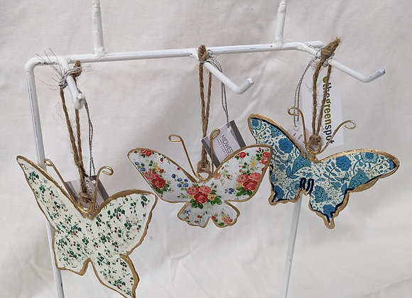 """Assorted 4"""" Hanging Butterfly"""