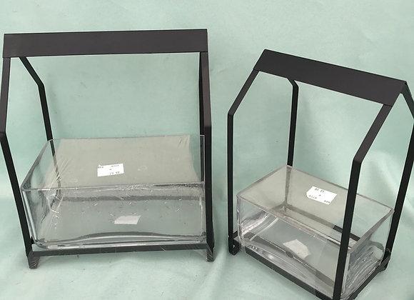 Glass/Metal Plant Dish Terrarium