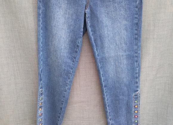 FDJ- Cigarette Ankle Jean Diamonds
