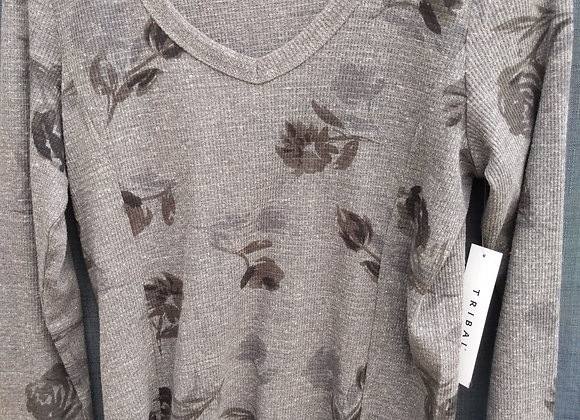 Tribal Grey Floral Shirt