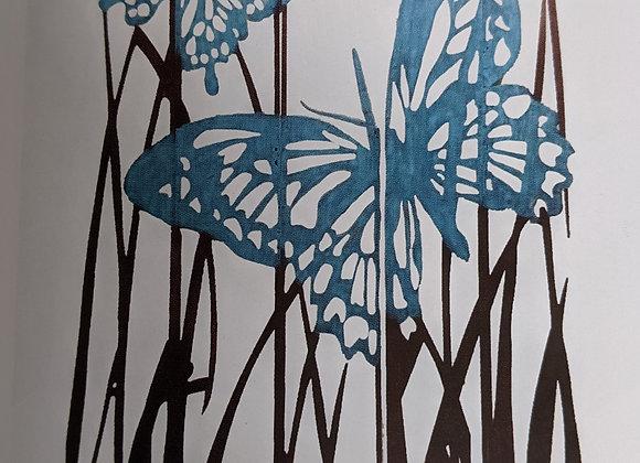 Butterfly Laser Cut Metal Yard Sign