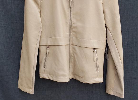 Tribal Faux Leather Jacket