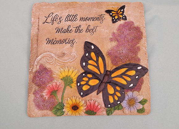 """12"""" Square Butterfly Stepping Stone"""