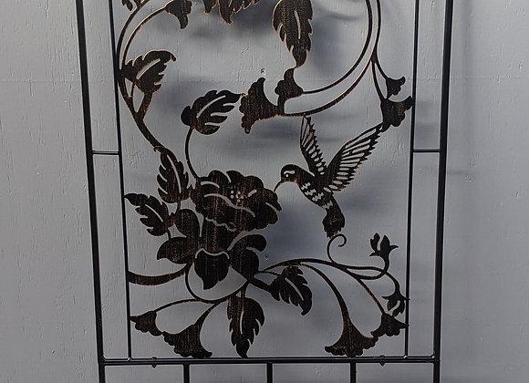 Metal Hummingbird Trellis