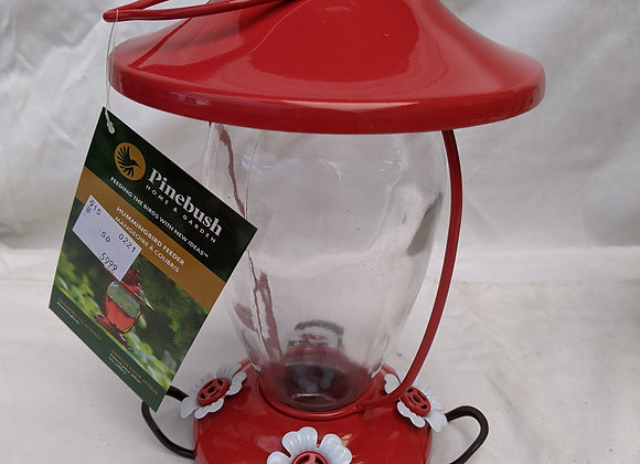 Assorted Glass Hummingbird Feeder