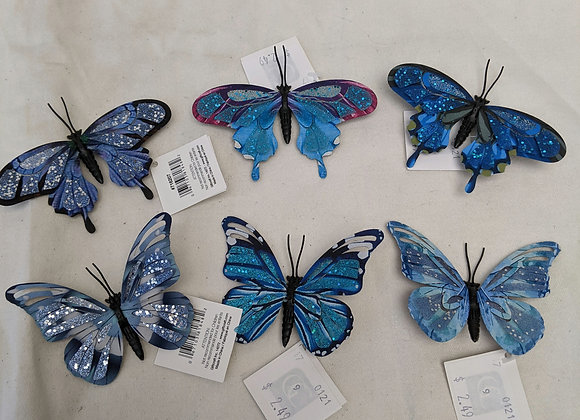 Assorted Butterfly Clips