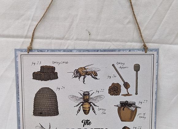 Metal Honey Bee Sign