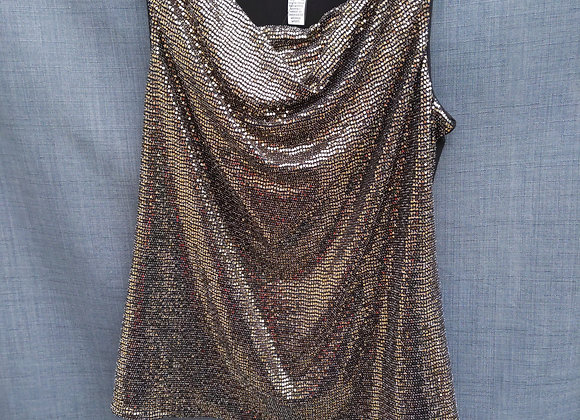 Joseph Ribkoff Gold Sequin Tank Top