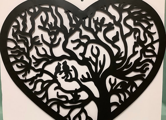 Metal Heart Wall Decor